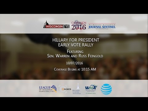 10:15 AM | Sen. Warren and Russ Feingold Early Vote Rally