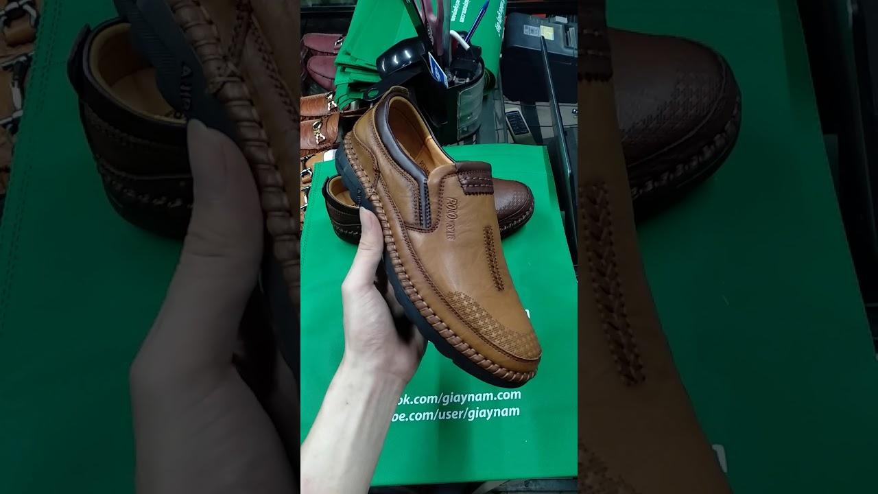 Giày lười thời trang đẹp 2019 dành cho anh em hiệu Polo 2 màu