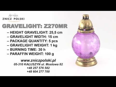 Glass beautiful candle to commemorate loved ones on graves R270MR