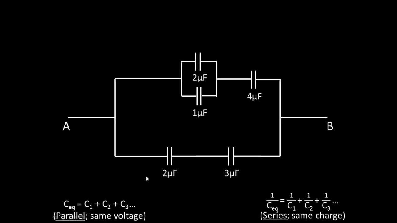 Finding Charge And Voltage Across A Capacitor In Circuit Youtube Quarterstepsteppermotordriver Basiccircuit Diagram