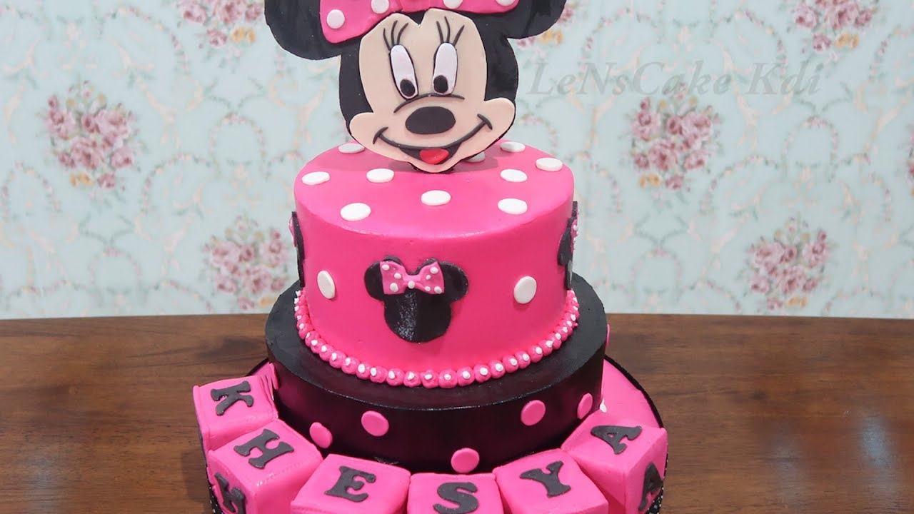 Happy Birthday Cake Girls New Graded Birthday Cake Character Minnie Mouse Disney Tart
