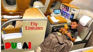 Going to DUBAI Business Class Airplane Flight!! HZHtube Family Vlog