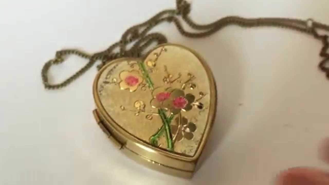 Vintage miniature music box pendant with necklace and photo locket vintage miniature music box pendant with necklace and photo locket personalized gift aloadofball Images
