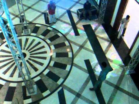 Interactive Floor Installation in Kuwait - Graffiti Theme