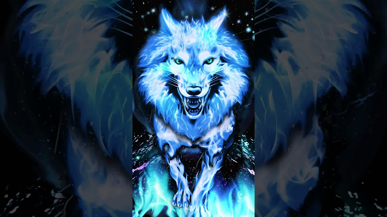 Samsung Theme Live Wallpaper Blue Fire Wolf Youtube