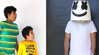 Children dance with Marshmello, pretend play funny videos for kids