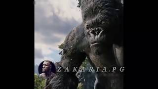 A clip in a movie king kong