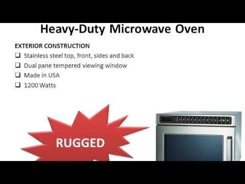 Amana Commercial HDC12A2 Heavy Duty Microwave Oven Review