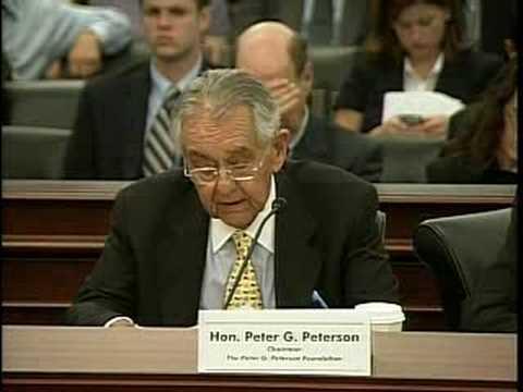 Peter G. Peterson Testifies Before House Budget Committee