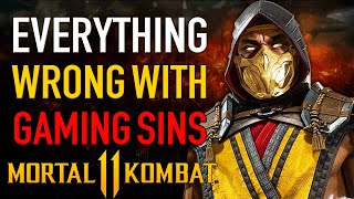 Everything Wrong with Gaming Sins - Defending Mortal Kombat 11 with SonicHaXD