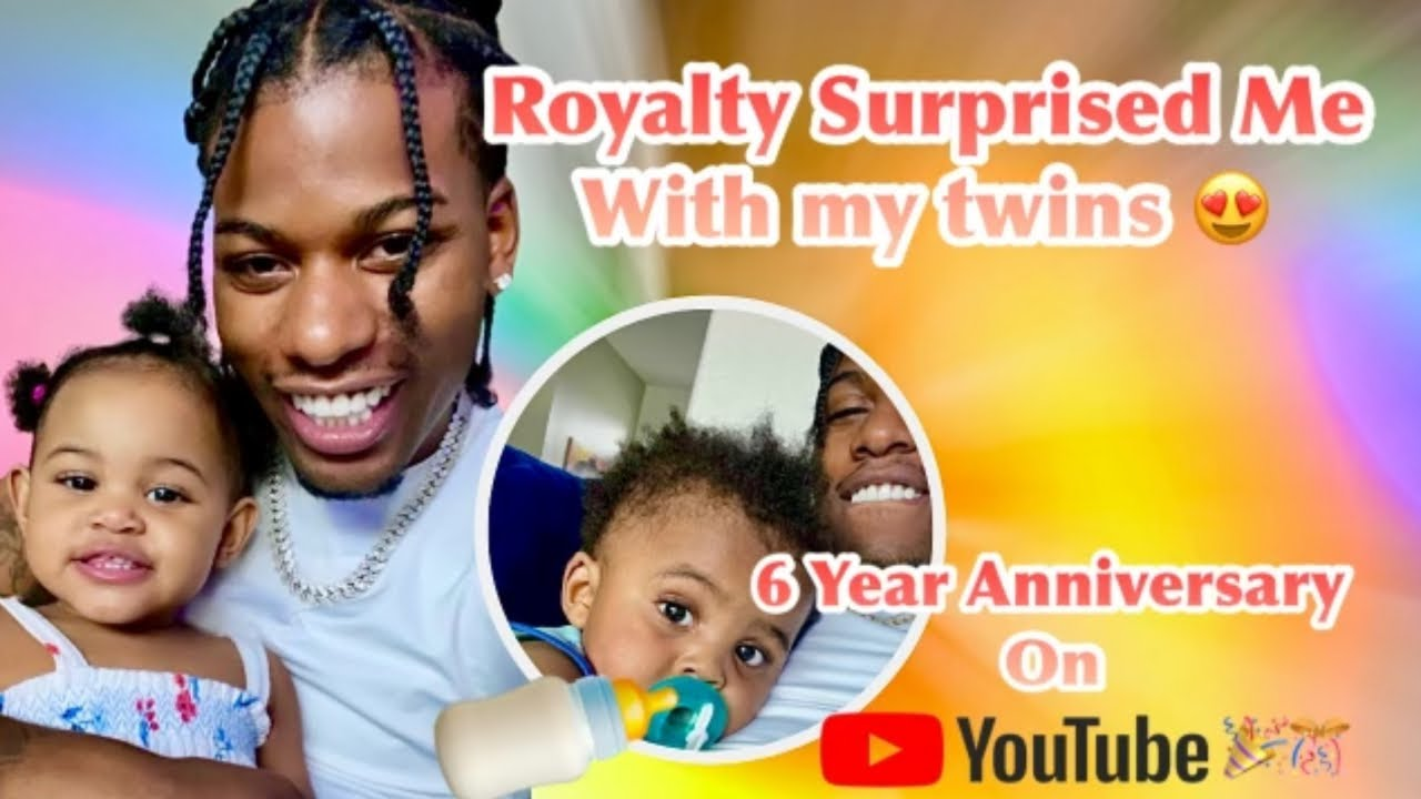 Royalty Surprised Me With My Twins For My 6 Year Anniversary On Youtube!