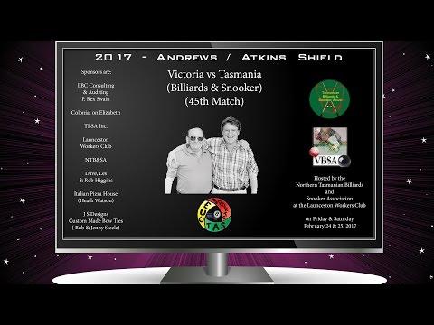 Andrews-Atkins Shield 2017 - Cale Barrett (TAS) v Ryan Thomerson (VIC)
