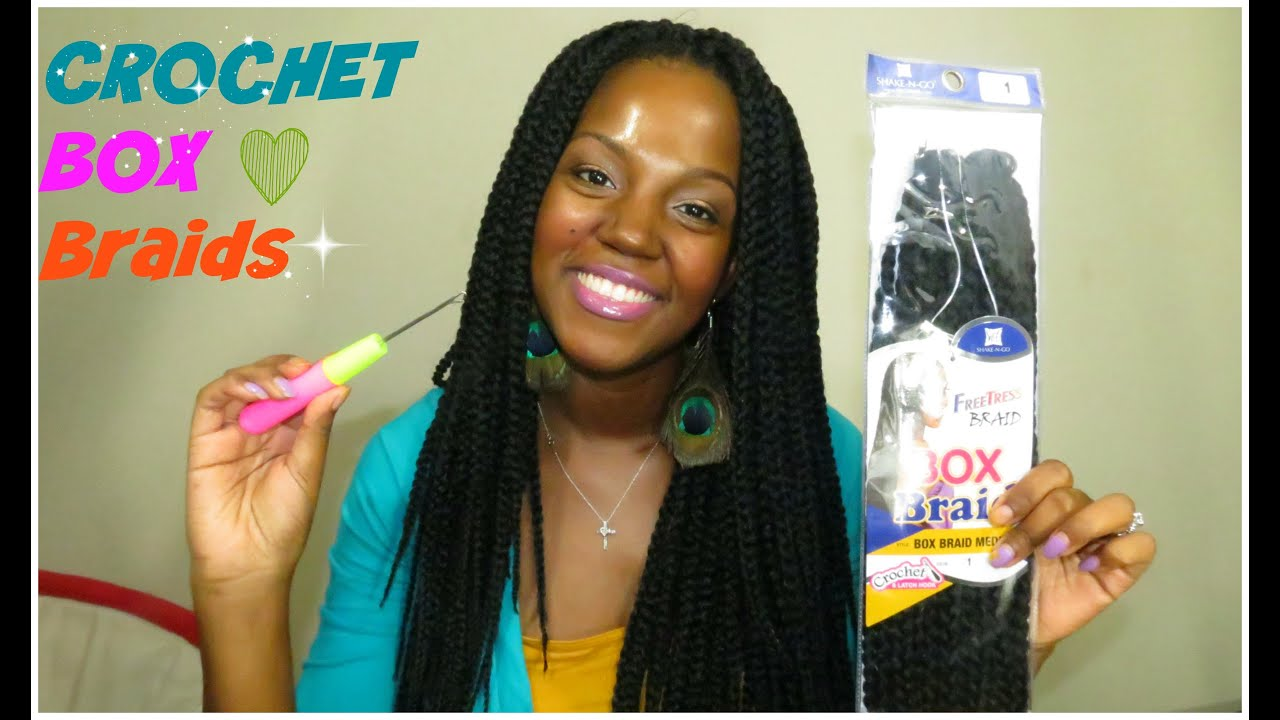 Crochet Box Braids | Freetress Medium Box Braids - YouTube