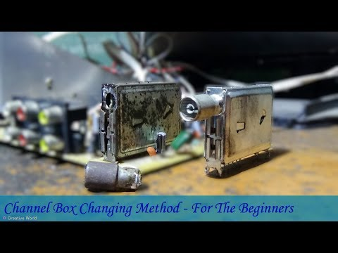 How To Change Channel Box Of CRT Color Television - For The Beginners (Very Useful)
