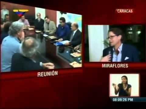 Lorenzo Mendoza a su salida de Miraflores este 14 de mayo tras reunirse con Nicolás Maduro