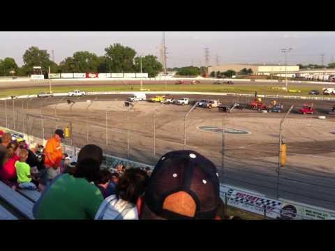 Toledo Supermodified Crash 6/10/16