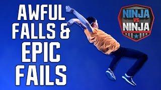 Best Runs: Awful Falls And Epic Fails | American Ninja Warrior: Ninja Vs. Ninja