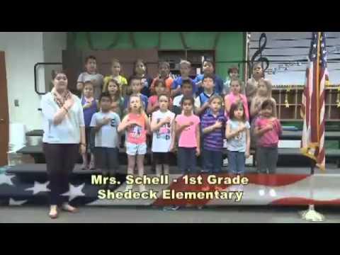 Mrs. Schell's 1st Grade Class At Shedeck Elementary School