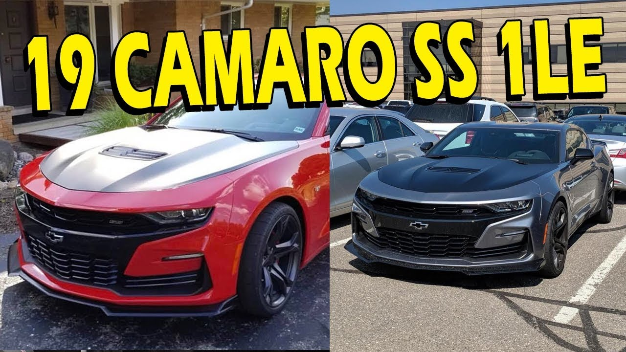 2019 Camaro Ss 1le Spotted Youtube