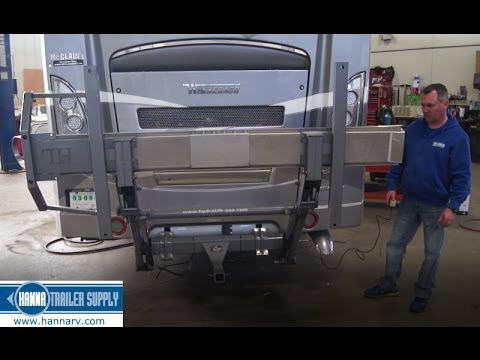 Hydralift Motorcycle Lift Installed On A Class A Motorhome Youtube