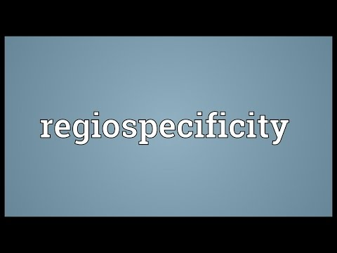 Regiospecificity Meaning