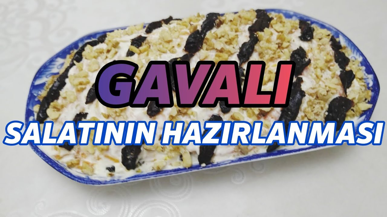 ən Asand Hazirlanan Salat Gavali Salati Youtube