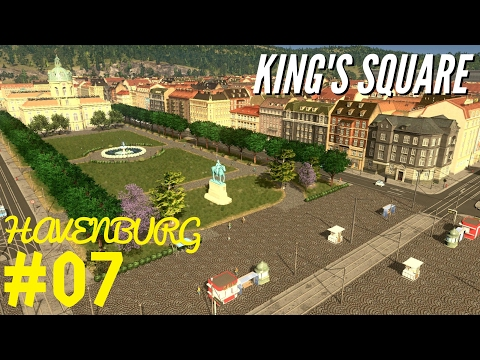 King's square - Detailing the old town center - Cities Skylines: Havenburg E07