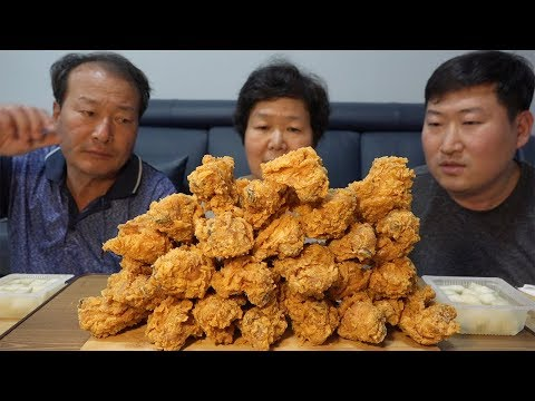 BHC 후라이드 닭다리 치킨(Fried chicken drumsticks)~먹방!! - Mukbang eating show