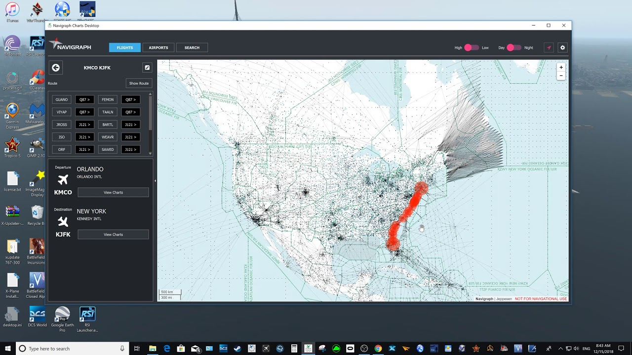 How to integrate a flight plan in Navigraph