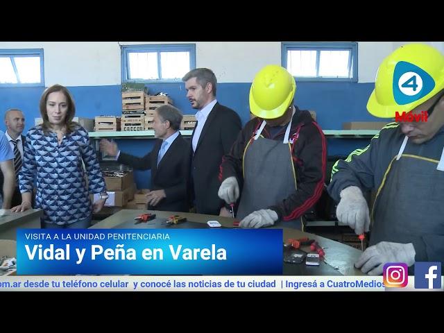 Vidal y Marcos Peña visitaron talleres y aulas de la Unidad Penitenciaria de Florencio Varela