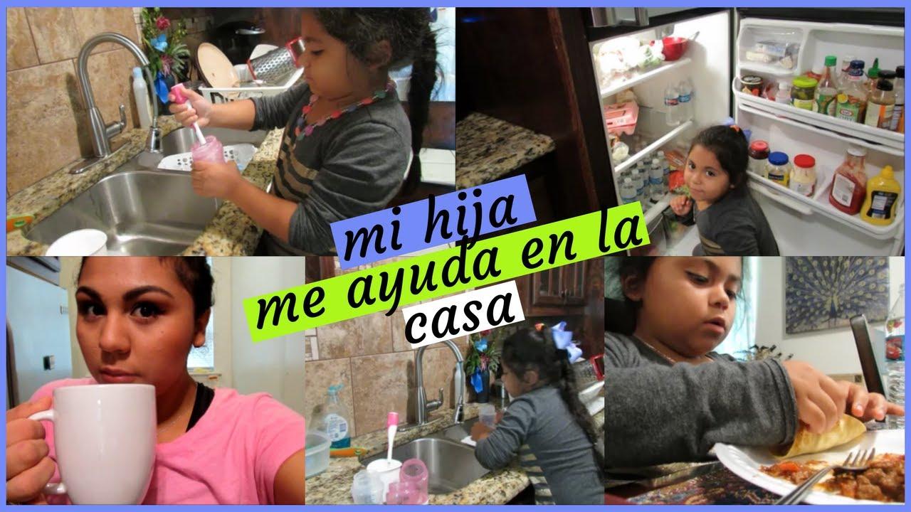 Mi niña (6 años) me ayuda con las labores de la casa- Vlog - YouTube