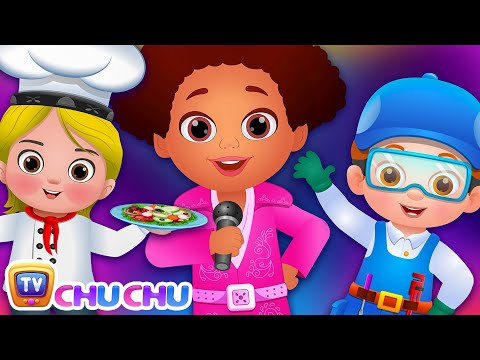 What do you want to be? Jobs Song - Professions Part 2 - ChuChu TV Nursery Rhymes & Songs for Babies
