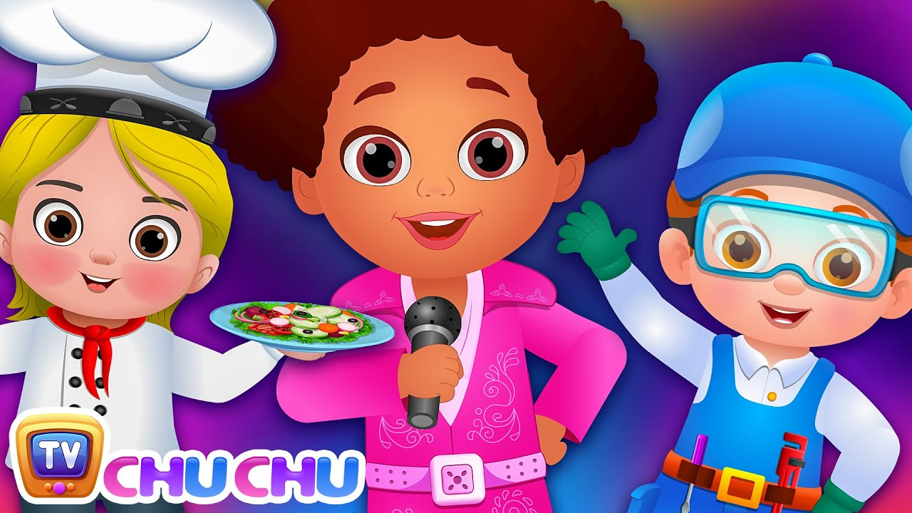 What do you want to be? Jobs Song - Professions Part 2 - ChuChu TV Nursery Rhymes & Songs for Ba