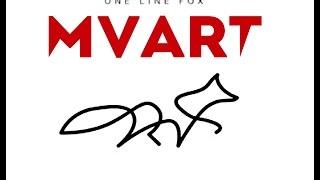 Как нарисовать одной линией животное или идея оригинальной подписи