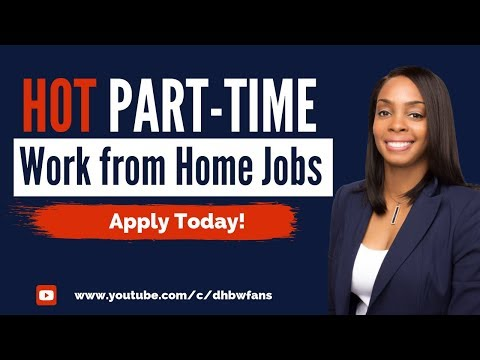 5 Hot Part-Time Work From Home Jobs Open Now!
