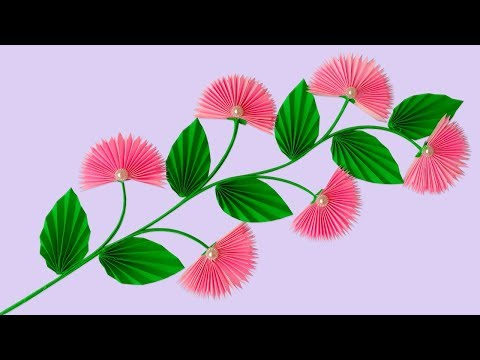 Diy Flower Stick | Paper Flower Stick | How to Make Beautiful Paper Stick Flower For Room Decor