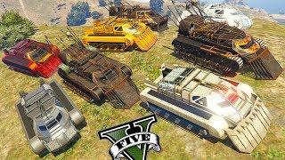 GTA V Online - Rolezinho Voando com 10 Novos Tanques Scarab Invadindo Forte Zancudo INSANO!