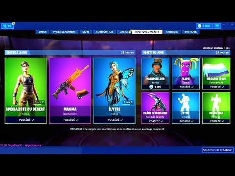 BOUTIQUE FORTNITE du 15 Juillet 2019 ! ITEM SHOP July 15 2019 !