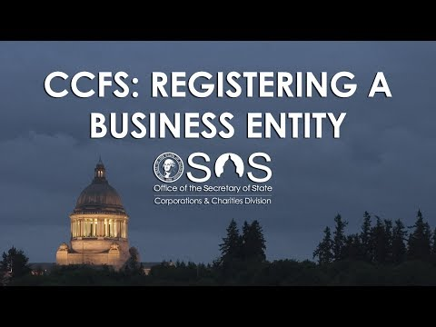 CCFS: Registering A Business Entity