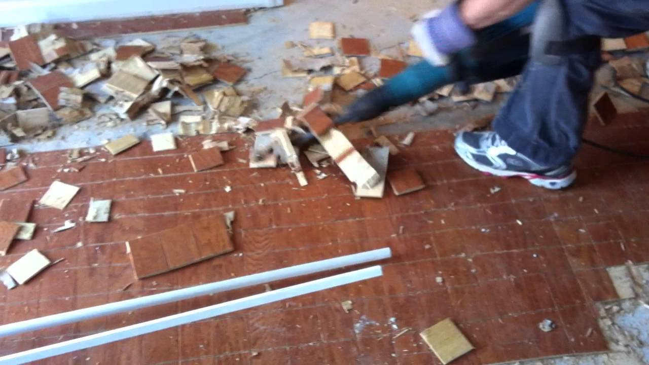 How to remove engineered hardwood flooring from concrete for Removing concrete floor