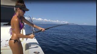 BIKINI Fishing in MEXICO!