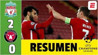 Liverpool 2-0 Midtjylland. Diogo Jota y Mohamed Salah guían a los de Jurgen Klopp | Champions League