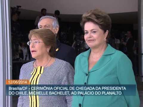 Michelle Bachelet chega ao Brasil para encontro bilateral