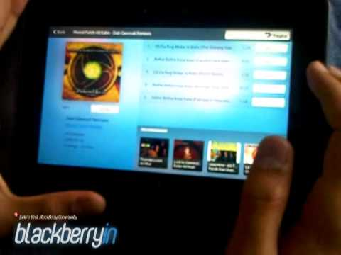 BlackBerry PlayBook Music Store  7Digital