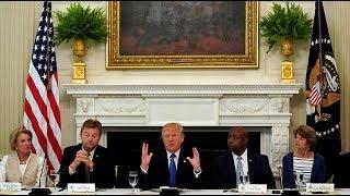 Trump hosts lunch to woo Senate GOP