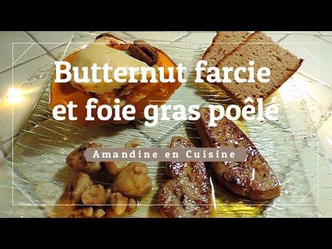 butternut-farcie-et-foie-gras-poêlé-[amandine-en-cuisine]