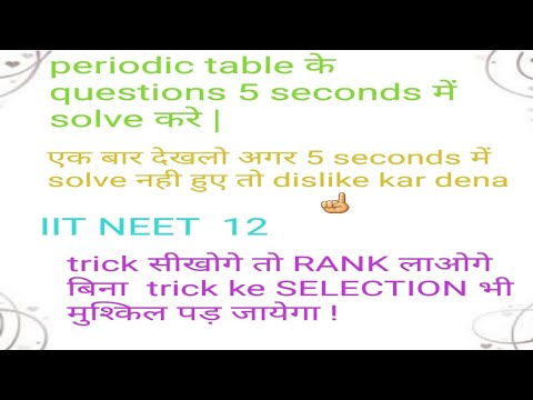 EASY TRICKS TO LEARN PERIODIC TABLE in hindi !!NOW TO REMEMBER  PERIODIC TABLE IS FUN FOR YOU.