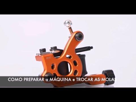 Como reparar e trocar as molas da Maquina de tatuagem Paulo Fernando Nano Dial Alumínio