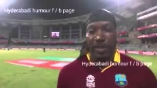 Chris Gayle's funny Marathi .......