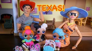 LOL SURPRISE DOLLS Pack Up Bags For TEXAS Vacation!!